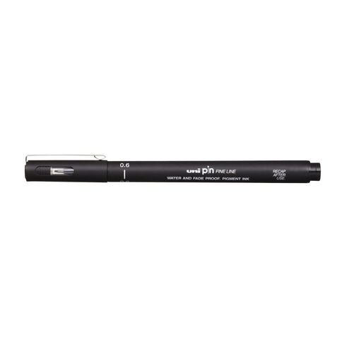 Uni Pin Fineliner 0.6 Black