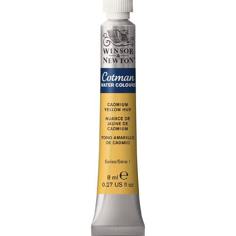 Winsor & Newton Cotman Watercolour Paint 8ml Cadmium Yellow Hue Yellow