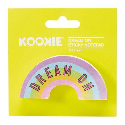 Kookie Dream On Sticky Notepad 200 Sheets