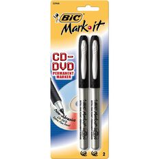 Bic Mark-It CD/DVD Marker Extra Fine 2 Pack Black