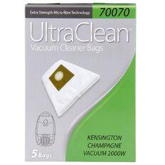 Ultra Clean Vacuum Bags For Kensington Champagne 5 Pack