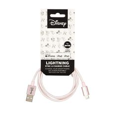 Mickey Mouse USB-A to Lightning Cable 1m Pink
