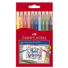 Faber-Castell Calligraphy Brush Pens 10 Pack