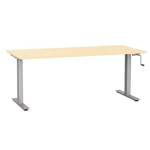 Agile Height Adjustable Desk 1800 Nordic Maple/Silver
