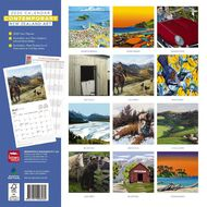 BrownTrout 2020 Contemporary NZ Art Square Wall Calendar