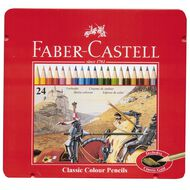 Faber-Castell Classic Colour Pencils in Tin 24 Piece