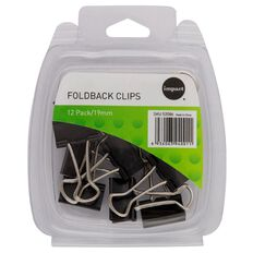 WS Foldback Clips 19mm 12 Pack