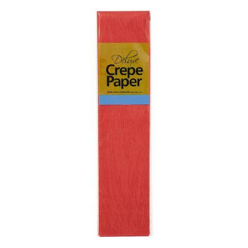 Unique Crepe Paper Red