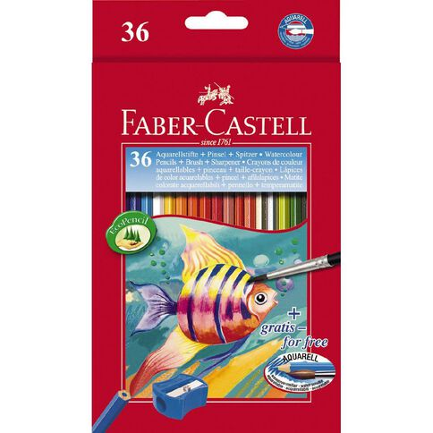 Faber-Castell Coloured Pencils Watercolour Full 36 Pack 36 Pack