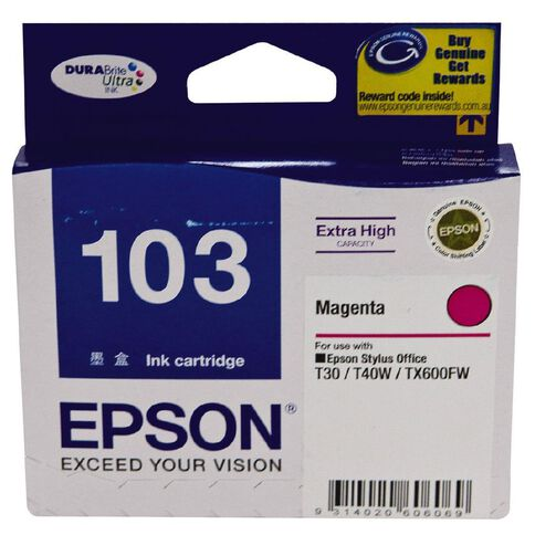 Epson Ink T103 Magenta (865 Pages)