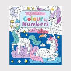 Magical Unicorn Colour by Numbers by Claire Stamper