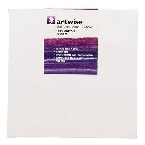 Uniti Blank Canvas 1 Piece 280GSM White 20cm x 20cm