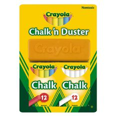 Crayola Chalk N Duster 24 Pack