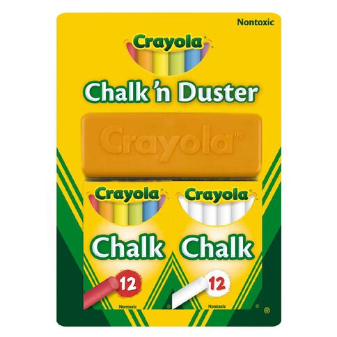 Crayola Chalk N Duster 24 Pack