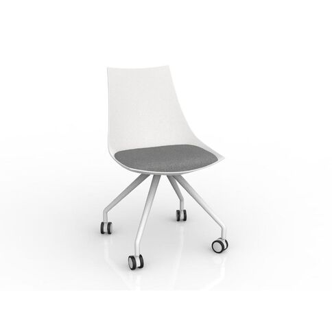 Luna White Stone Grey Chair