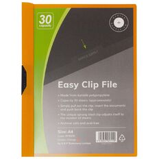 Office Supply Co Easy Clip File 30 Capacity Orange A4