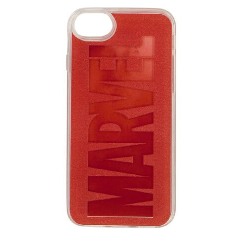 Marvel iPhone 6/7/8/SE 2020 Liquid Sand Case Red Brick