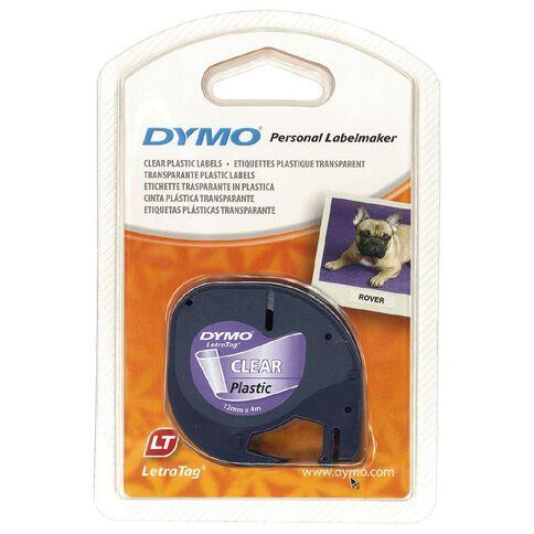 Dymo Label Tape Plastic 12mm x 4m