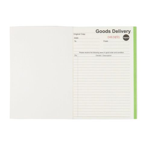 Impact Delivery Book Duplicate Ncr 50 Forms Green A5