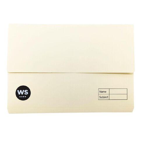 WS Manilla Document Wallet Buff Orange Foolscap