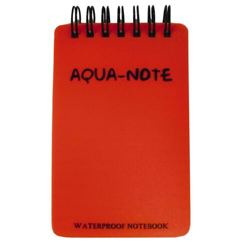 AquaNotes Notebook 75 x 115mm Waterproof 50 Leaf Red