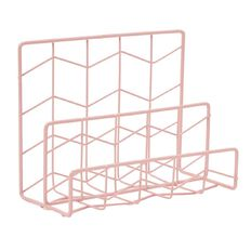 Uniti Wire Letter Rack Pink