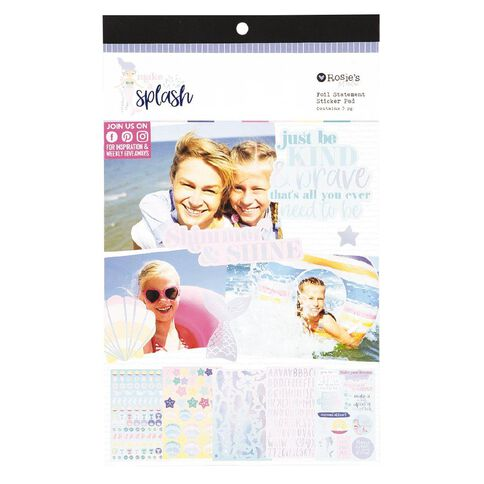 Rosie's Studio Make a Splash Foil Statement Pad 5 Page
