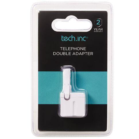 Tech.Inc Telephone Mini Double Adapter