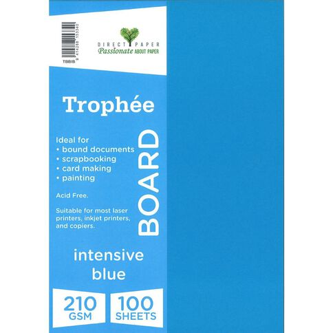 Trophee Board 210gsm 100 Pack Intensive Blue A4