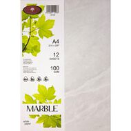 Direct Paper Marble Paper 100gsm 12 Pack White A4
