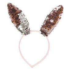 Artwrap Easter Reversible Sequin Bunny Ears Pink/Silver