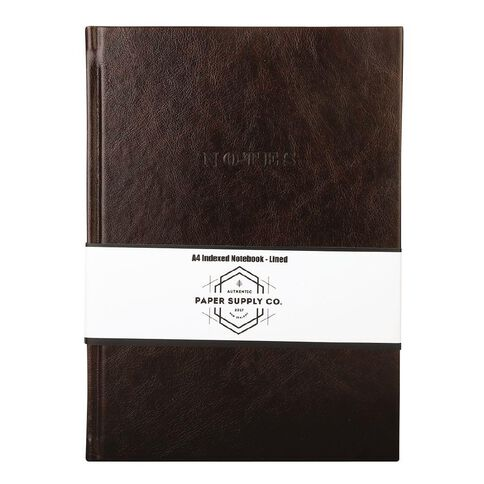 Paper Co Vintage Indexed Notebook Brown A4