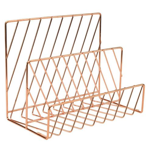 Uniti rose gold letter rack warehouse stationery nz for Gold letter rack