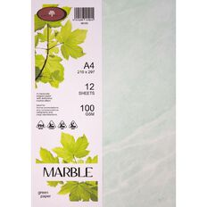 Direct Paper Marble Paper 100gsm 12 Pack Green A4