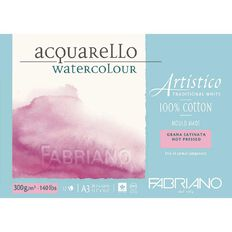 Fabriano Artistico Watercolour Pad Hot Pressed 300GSM 12 Sheets A3