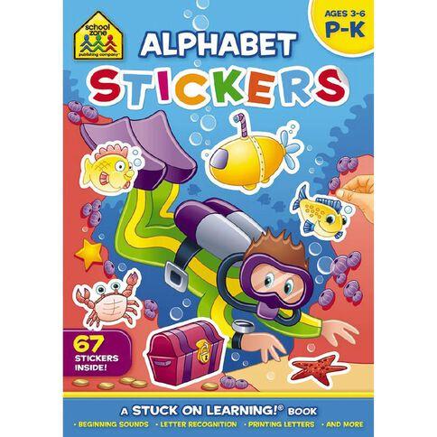 School Zone: Get Ready Sticker Books Alphabet