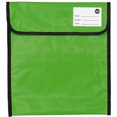 WS Book Bag Zipper Pocket 36cm x 33cm Green