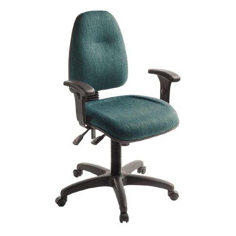 Eden Spectrum Deluxe 3 Lever Highback Ergonomic Chair with Arms Atlantic
