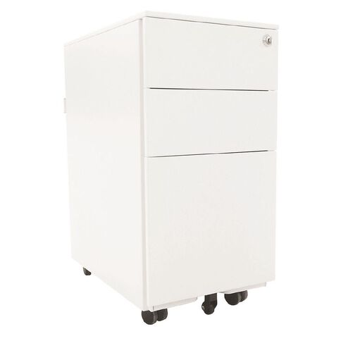 Jasper J Emerge 3 Drawer Slim Metal Mobile 310 x 472 x 610MM White