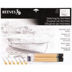 Reeves Sketch By Numbers Large Assorted