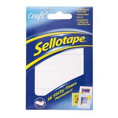 Sellotape Felt Sticky Fixer Pads 56 Pack White