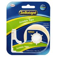 Sellotape Invisible Tape & Dispenser 18mm x 33m Clear