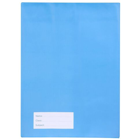 Solid Book Sleeve Blue A4
