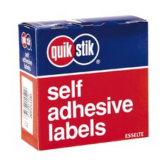 Quik Stik Labels Mr2449 24mm x 49mm 325 Pack White