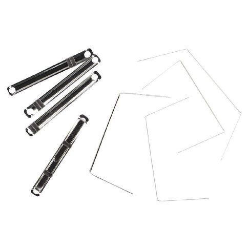 WS File Fasteners 80mm Prong 2 Pieces 50 Pack