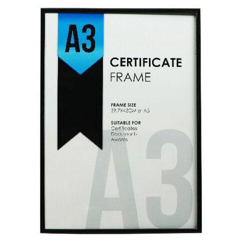 Certificate Frame A3 Black | Warehouse Stationery, NZ