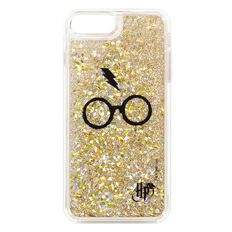 Harry Potter iPhone 6+/7+/8+ Glasses Glitter Case