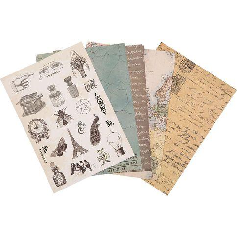 Uniti Designer Paper Pack A4 24 Sheet Vintage