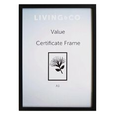 Living & Co Value Certificate Frame Black