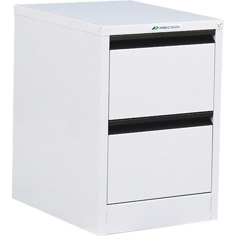 Precision Classic Filing Cabinet 2 Drawer White Satin
